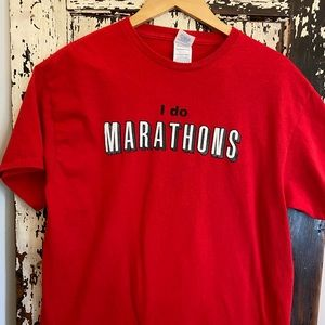 """I do Marathons"". Netflix Marathons!!!! Size L"